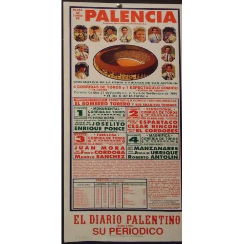 PLAZA DE TORO DE PALENCIA  1-SEPTIEMBRE -94 MED 22X44CTM