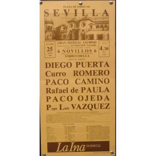 PLAZA DE TOROS DE SEVILLA- 25 OCTUBRE 1986  MED 21X 44 CTM