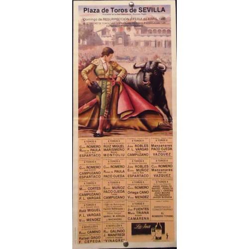 PLAZA DE TOROS DE SEVILLA.-ABRIL 1986.- MED 20 X45 CTM