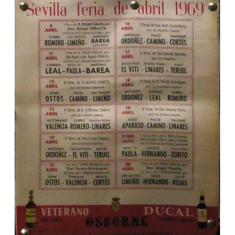 PLAZA DE TOROS DE SEVILLA.- ABRIL 1969.- MED 23X26 CTM