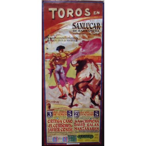 PLAZ  DE TOROS DE SANLUCAR 23 MARZO 2002 -MED 40 X 96 CTM