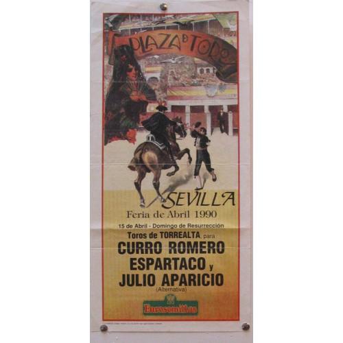 PLAZA DE TOROS DE SEVILLA 15 ABRIL 1990  MED 21X 45 CTM