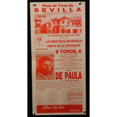 PLAZA DE TOROS DE SEVILLA 12 OCTUBRE 1987 MED 20X42 CTM