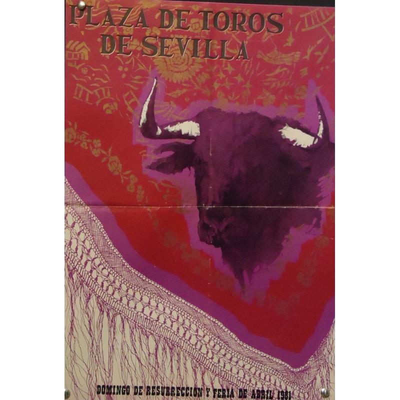 PLAZA DE TOROS DE SEVILLA.- ABRIL Y MAYO DEL81-30X44 CTM