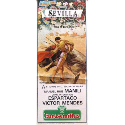 PLAZA DE TOROS DE SEVILLA ABRIL 1988  MED 21X 45 CTM