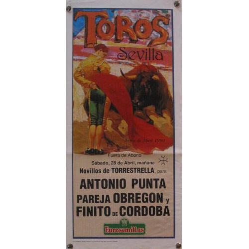 PLAZA DE TOROS DE SEVILLA 28 ABRIL 1990 MED 21 Z 45 CTM