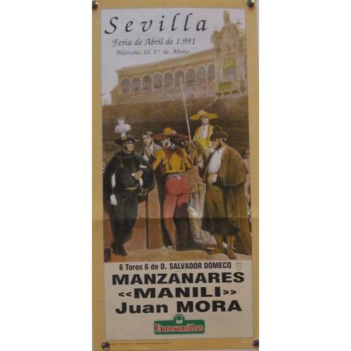PLAZA DE TOROS DE SEVILLA.- 10 ABRIL 1991.- MED 21 X45 CTM