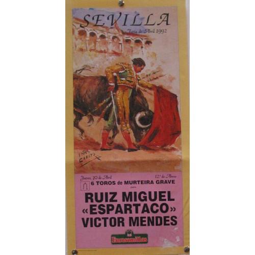 PLAZA DE TOROS DE SEVILLA 30 ABRIL 1992 MED 21 X 45 CTM