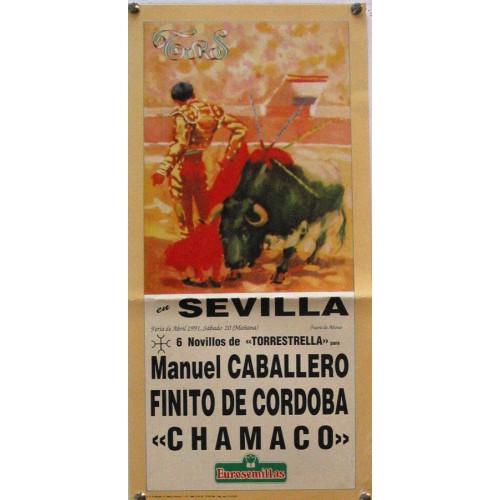 PLAZA DE TOROS DE SEVILLA 20 ABRIL 1991 MED 21 X 45 CTM