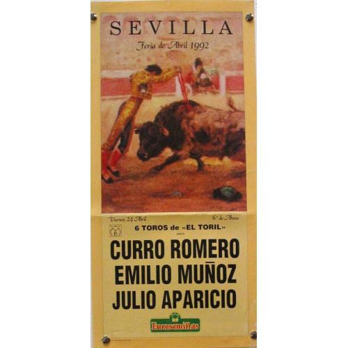 PLAZA DE TOROS DE SEVILLA 24 ABRIL 1992 MED 21 X45 CTM