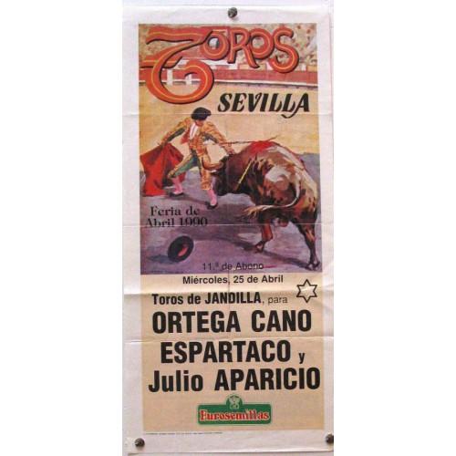 PLAZA DE TOROS DE SEVILLA 25 ABRIL 1990 MED 21X 45 CTM