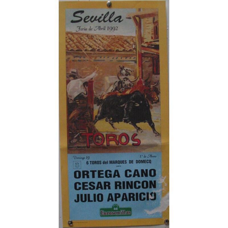 PLAZA DE TOROS DE SEVILLA 19 ABRIL 1992 MED 21 X 45 CTM