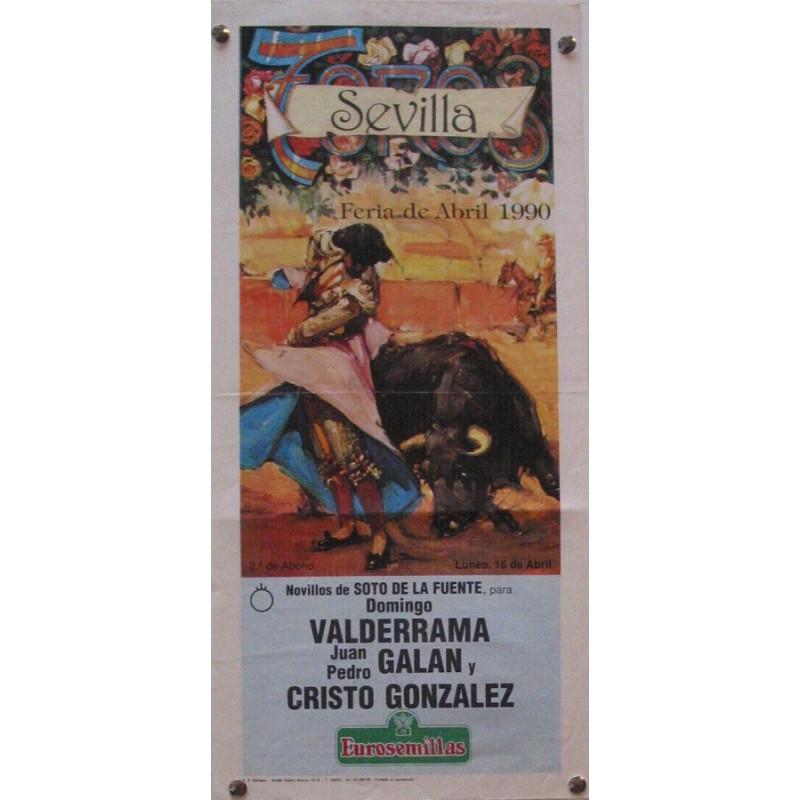 PLAZA DE TOROS DE SEVILLA 16 ABRIL 1990 MED 21X 45 CTM