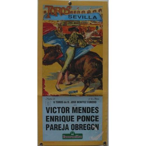 PLAZA DE TOROS DE SEVILLA 21 ABRIL 1992 MED 21 X 45 CTM