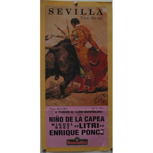 PLAZA DE TOROS DE SEVILLA 28 ABRIL 1992 MED 21 X 45 CTM