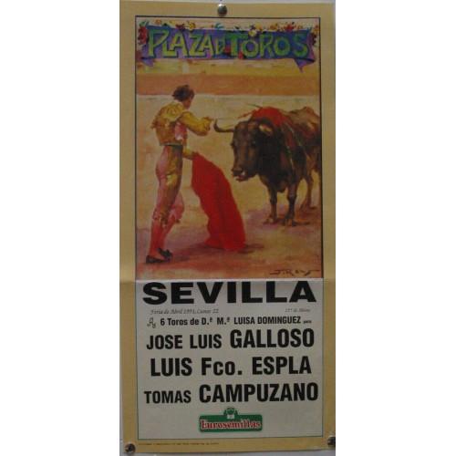 PLAZA DE TOROS DE SEVILLA 22 ABRIL 1991 MED 21 X 45 CTM