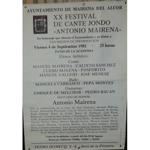 FLAMENCO MAIRENA DEL ALCOR.- 4-09-81 MED 50X 70 CYM