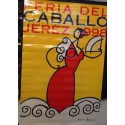 FERIA DEL CABALLO DE JEREZ AÑO 1998.- MED 85 X130 CTM