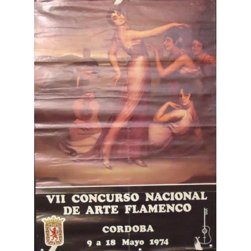 FLAMENCO CORDOBA 1974  MED 50X 70 CTM.- VII.- CONCURSO