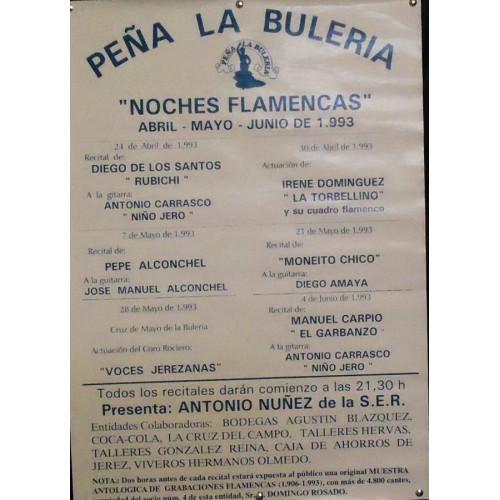 FLAMENCO PEÑA LA BULERIA,. JEREZ.- 1993.- MED 45X 65 CTM