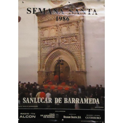 SEMANA SANTA DE SANLUCAR AÑO 1986 MED 50X 70 CTM