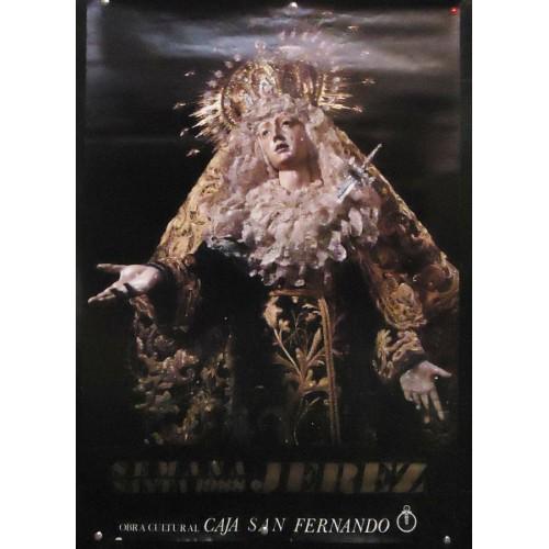 SEMANA SANTA DE JEREZ AÑO 1988.- MED 50 X70 CTM