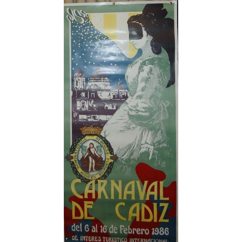 CARNAVAL DE CADIZ.- 1986,. MED 47 X 100 CTM      2 UNID