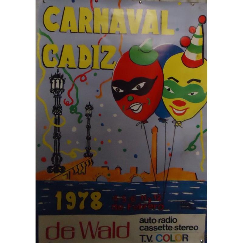 CARNAVAL  DE  CADIZ.- AÑO 1978.- MED 65X 95 CTM