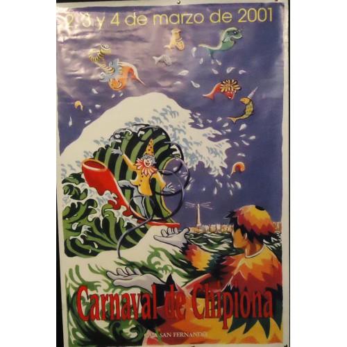 CARNAVAL DE CHIPIONA  AÑO 2001.- MED  65 X 100 CTM