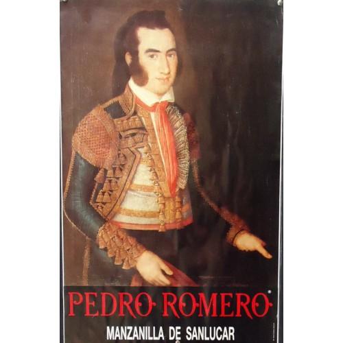 PUBLICIDAD  PEDRO ROMERO.- VES DE TORERO.MED 45X70CTM