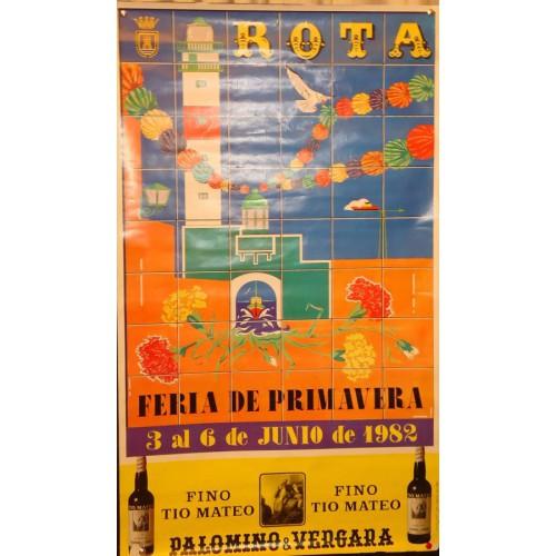 FERIA DE ROTA .- AÑO 1982.- MED 48X 58 CTM.- FINO TIO MATEO