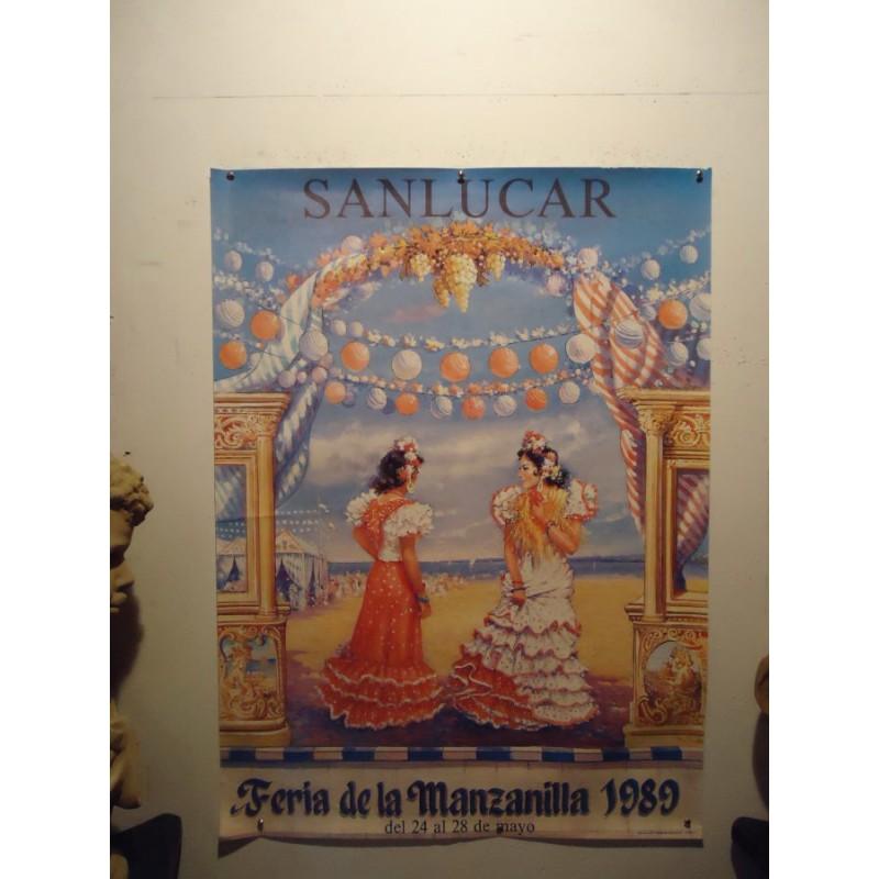 FERIA DE LA MANZANILLA 1989.- MED 50 X70 CTM