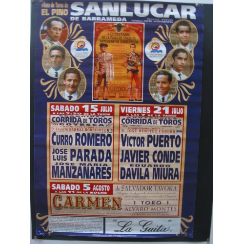 PLAZA DE TOROS DE SANLUCAR JULIO 2000  MED 40X 65 CTM