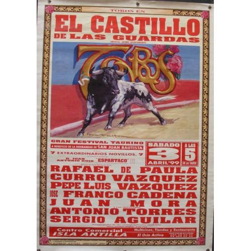 PLAZ DE TOROS CASTILLO DE LAS GUALDAS-3ABRIL-99 MED 50X70 CTM
