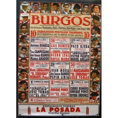 PLAZ DE TOROS DE BURGOS.- JULIO 1999.- MED 50X 70 CTM