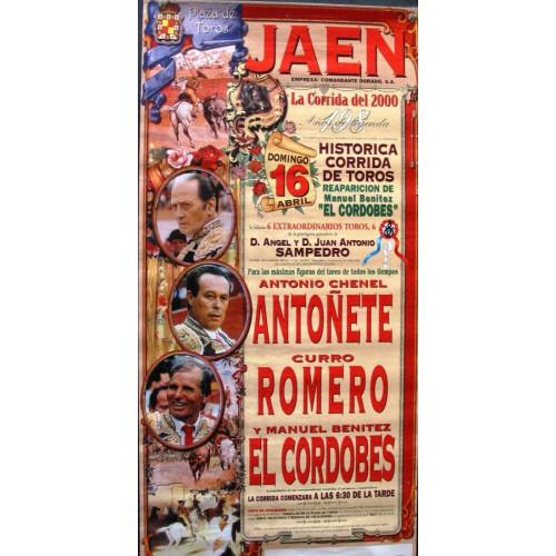 PLAZ DE TOROS JAEN.- 16 ABRIL 2000.- MED 35X 70 CTM