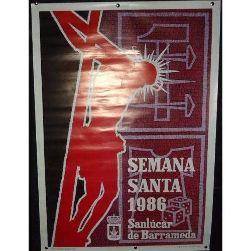 SEMANA SANTA DE  SANLUCAR         AÑO.-  1986           MED 50X 70 CTM