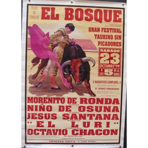 PLAZ DE TOROS DEL BOSQUE.- 23 OCTUBRE 1999.- MED 50X 7O CTM