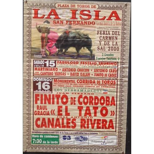 PLAZ DE TOROS DE SAN FERNANDO 16 JULIO 2000 MED 48X 68 CTM