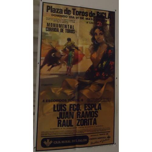 PLAZ DE TOROS DE RICJA.- 20 MAYO 1989.-MED 52X96 CTM