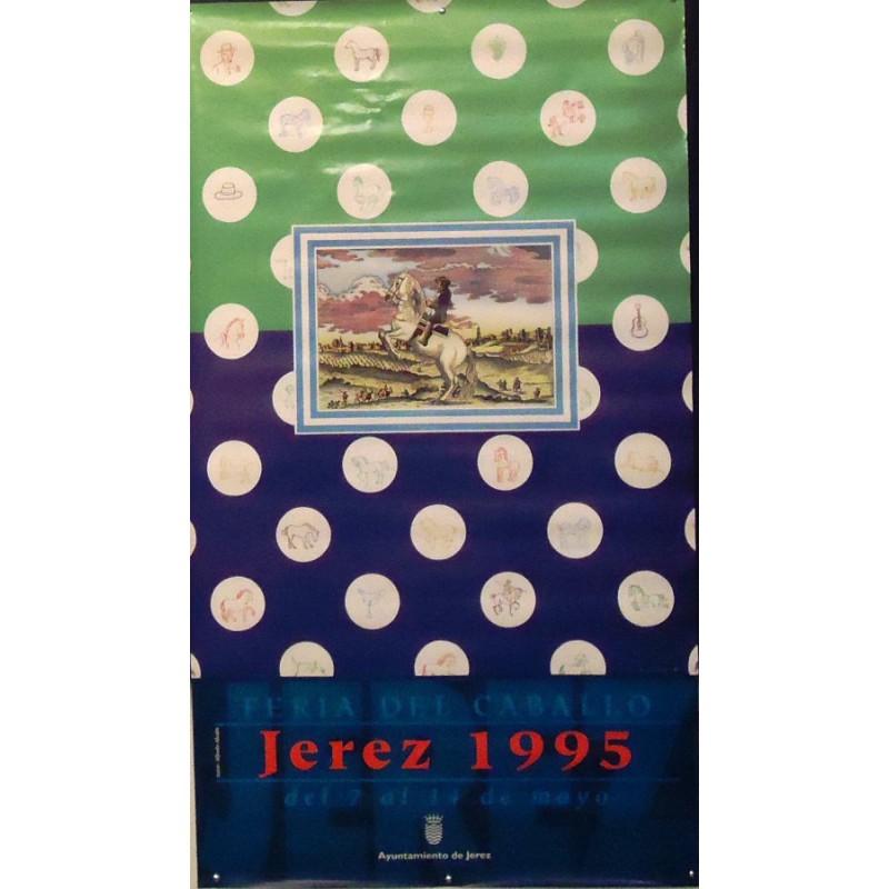 FERIA DE JEREZ.- AÑO 1995.- MED 50 X70 CTM