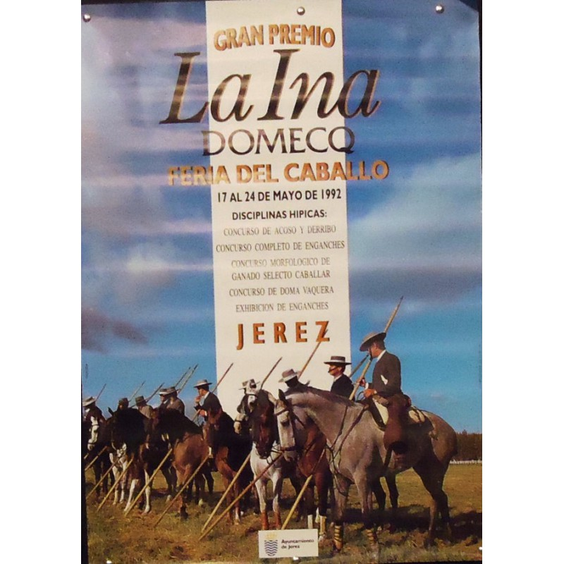 FERIA DE JEREZ   AÑO.- 1992.- MED 50 X 70 CTM