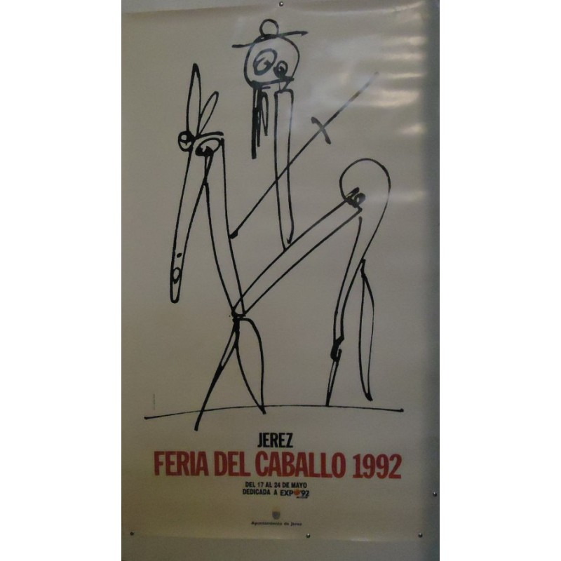 FERIA DE JEREZ AÑO 1992.- MED 80 X 125 CTM