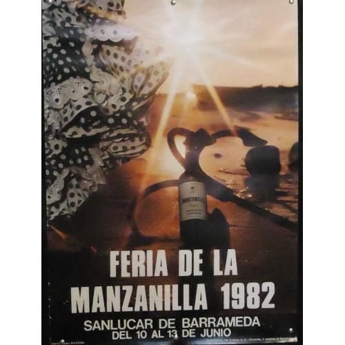 FERIA DE LA MANZANILLA.- AÑO 1982.-  MED 50 X 70 CTM.-     6UNID