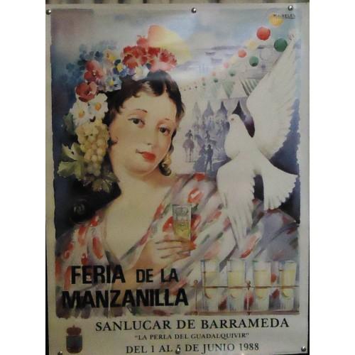 FERIA DE LA MANZANILLA.- AÑO 1988.- MED 50 X 70      4UNI