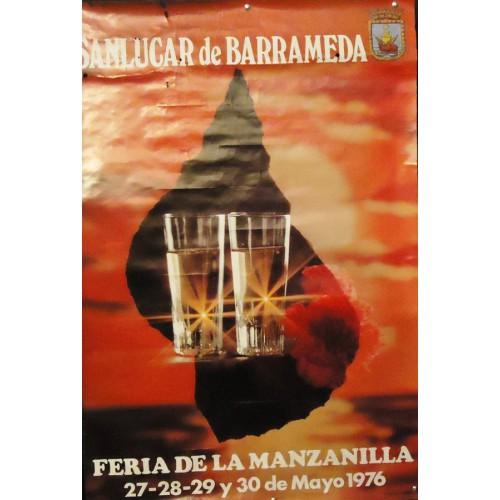 FERIA DE LA MANZANILLA  AÑO 1976.- MED 50X 70 CTM    3 UNI