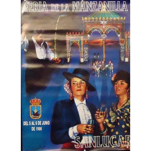 FERIA DE LA MANZANILLA.- AÑO 1996.- MED 50 X70 CTM