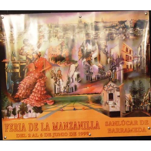 FERIA DE LA MANZANILLA.-  AÑO  1999.- MED 50 X 70 CTM    3UNID