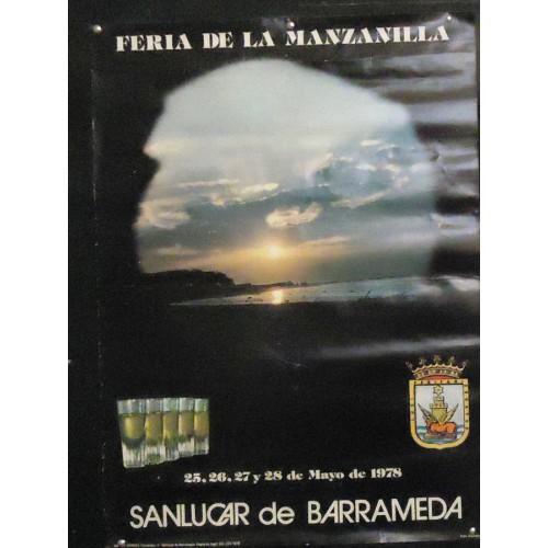 FERIA DE LA MANZANILLA.-  AÑO 1978.- MED 50X 70 CTM.-   4 UNI