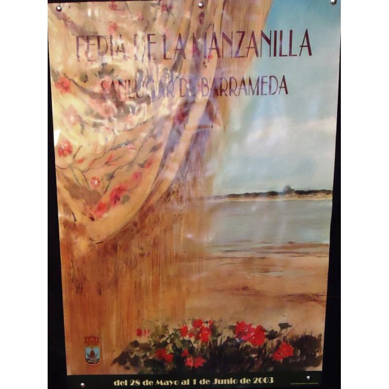 FERIA DE LA MANZANILLA.-  AÑO 2003.- MED 50 X 70 CTM-   4 UNI